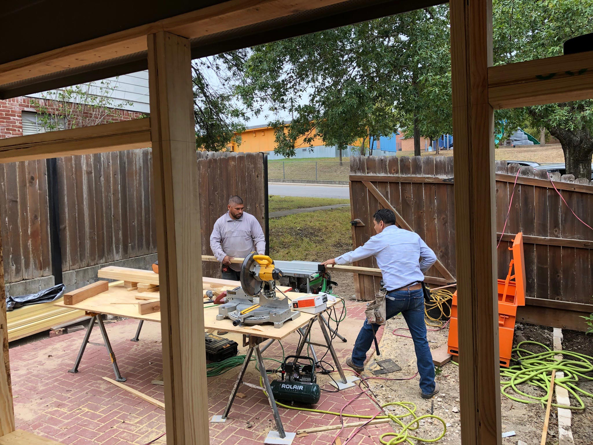Alice's Porch 07 East Austin Carpenters Project