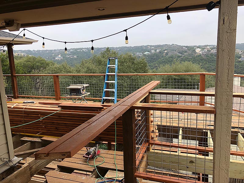 Carlo's Deck 09 East Austin Carpenters Project