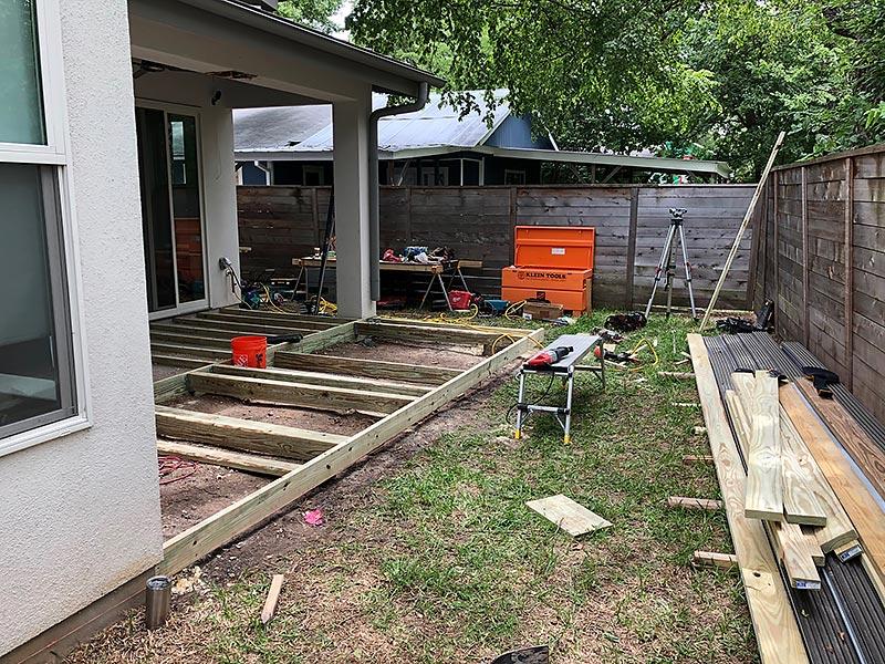 Ralph's Deck 04 East Austin Carpenters Project