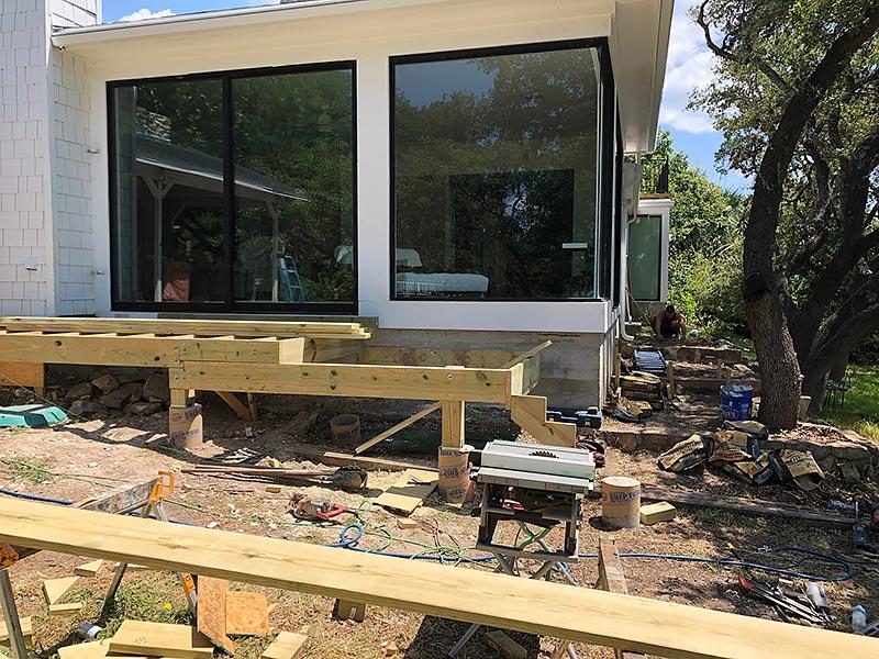 Sherry's Deck 02 East Austin Carpenters Project