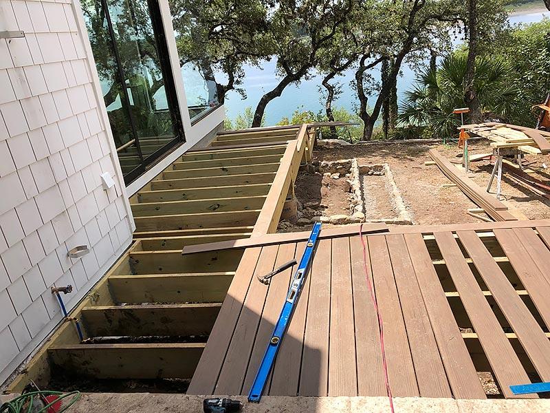 Sherry's Deck 04 East Austin Carpenters Project